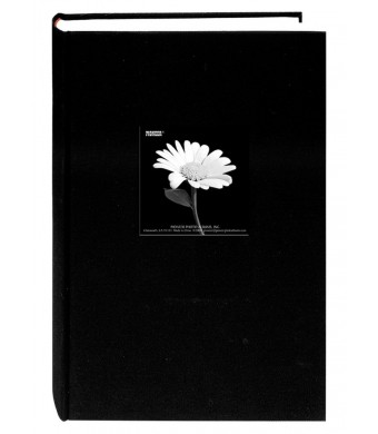 Pioneer 300 Pocket Fabric Frame Cover Photo Album, Deep Black