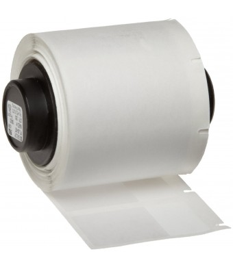 """Brady PTL-30-427 TLS 2200 And TLS PC Link 1.5""""  Height, 0.75""""  Width, B-427 Self-Laminating Vinyl, White And Translucent Color Label (250 Per Roll)"""