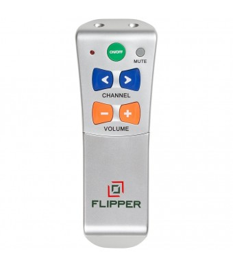 Flipper Big Button Universal Remote for 2 Devices