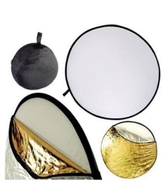 NEEWER 32-Inch 80CM Portable 5 in 1 Translucent, Silver, Gold, White, and Black Collapsible Round Multi Disc Light Reflector for Studio or any Photog