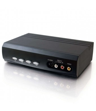 C2G / Cables to Go 28750 4 x 2 SVideo/Composite/Stereo Audio Selector Switch