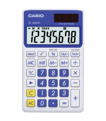 Casio SL-300VC Standard Function Calculator, Blue