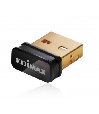 Edimax EW-7811Un 150Mbps 11n Wi-Fi USB Adapter, Nano Size Lets You Plug it and Forget it, Ideal for Raspberry Pi, Supports Windows, Mac OS, Linux