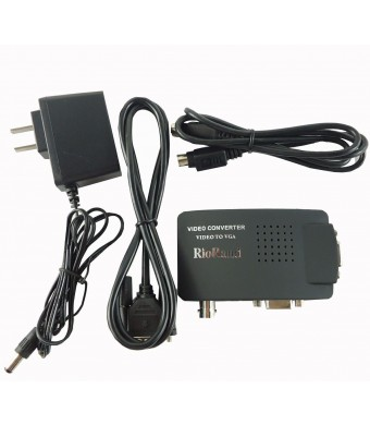RioRand Cctv Camera Bnc S-Video Vga To Laptop Computer Pc Monitor Converter Adapter Box