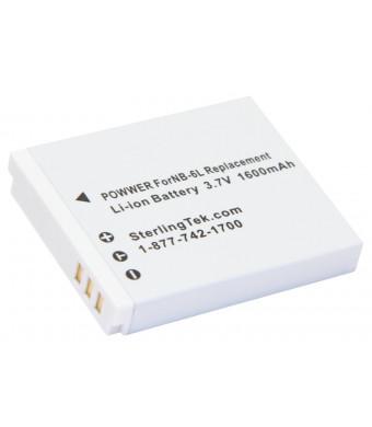 STK Canon NB-6L NB-6LH 1600mAh Battery for Powershot S120, SX510 HS, SX700 HS, SX280 HS, SX710 HS, SX530 HS, SX610 HS, S95, SX170IS, D30, SX500 HS, S