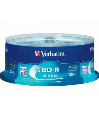 Verbatim 25 GB 6x Blu-ray Single Layer Recordable Disc BD-R, 25-Disc Spindle 97457