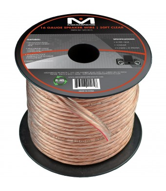 Mediabridge - 16 Gauge Speaker Wire - (50 Feet) - with Sequential Foot Markings