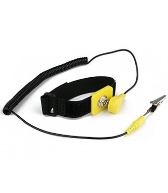 Rosewill RTK-002 Anti-Static Wrist Strap Components Black, Yellow