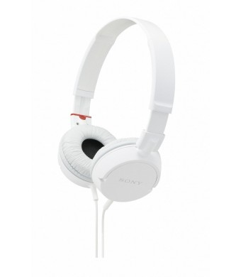 Sony MDRZX100 ZX Series Stereo Headphones (White)