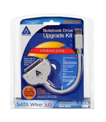 Apricorn SATA Wire Notebook Hard Drive Upgrade Kit with USB 3.0 Connection ASW-USB3-25 (Grey)