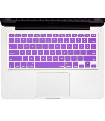 "Kuzy - PURPLE Keyboard Cover Silicone Skin for MacBook Pro 13""  15""  17""  (with or w/out Retina Display) iMac and MacBook Air 13""  - Purple"