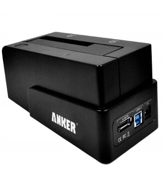 Anker USB 3.0 and eSATA to SATA External Hard Drive Docking Station for 2.5 or 3.5in HDD, SSD [4TB Support]