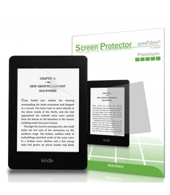 Kindle Screen Protector, amFilm Kindle Anti-Glare/Anti-Fingerprint (Matte) Premium Screen Protector for Kindle, Kindle Paperwhite and Kindle Touch (2