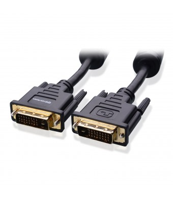 Cable Matters Gold Plated DVI-D Dual Link Cable with Ferrites 6 Feet
