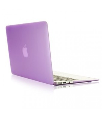 TopCase Rubberized Hard Case Cover for 13-Inch Macbook Air - Purple