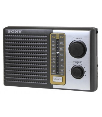 Sony ICF-F10 Two 2 Band FM/AM Portable Battery Transistor Radio