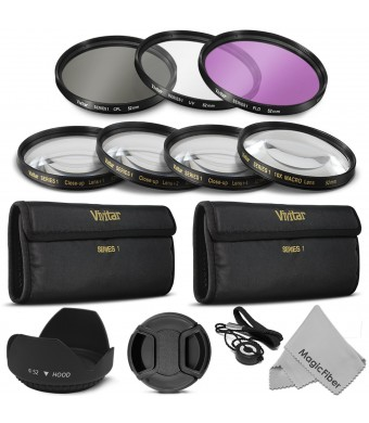52MM Professional Lens Filter and Close-Up Macro Accessory Kit for NIKON D7100 D7000 D5300 D5200 D5100 D5000 D3300 D3200 D3100 D3000 D90 D80 DSLR Cam