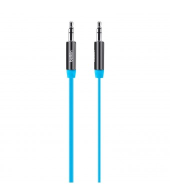 Belkin MiXiT Tangle-Free Aux / Auxiliary Cable, 3 Feet (Blue)