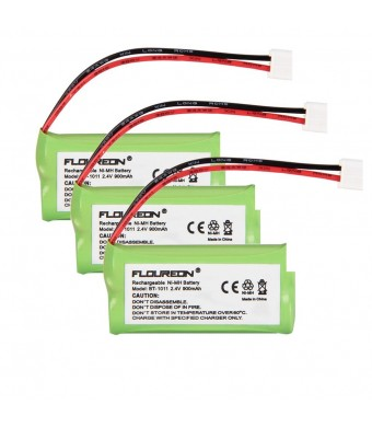 Floureon 3X Phone Battery for ATandT/Lucent 3101 3111 BT1011 BT8001 BT8300 SL82118 SL82208 SL82218 SL82308 SL82318 SL82408 SL82418 SL82518 SL82558 Mo