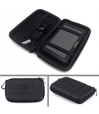 HDE 5.2 inch Hard Case GPS Case for TomTom and Garmin (Black)