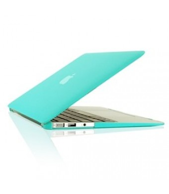 """TopCase Rubberized Hard Case Cover for Macbook Air 13""""  (A1369 and A1466) with TopCase Mouse Pad (HOT BLUE)"""