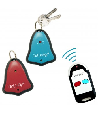 Click 'n Dig Model D2 Key Finder. 2 Receivers. Wireless RF Remote Item, Wallet Locator.