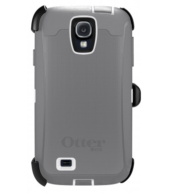 OtterBox Defender Series Case and Holster for Samsung Galaxy S4 - Carrier Packaging - White/Gray