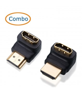 Cable Matters Combo, 270 Degree and 90 Degree HDMI Male to Female Adapter