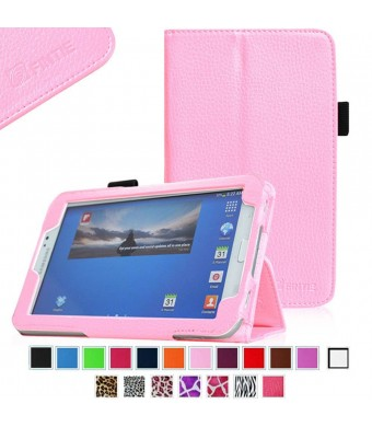 Fintie Folio Classic Leather Case for Samsung Galaxy Tab 3 7.0 inch Tablet - Pink