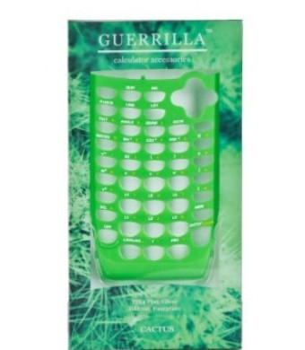 Guerrilla Green Faceplate For Texas Instruments TI 84 Plus C Silver Edition Color Graphing Calculator