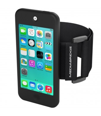 Armband for iPod Touch - 5th Generation ( Black ) - Model AB1 by Mediabridge (Part# AB1-IPT5-BLACK )