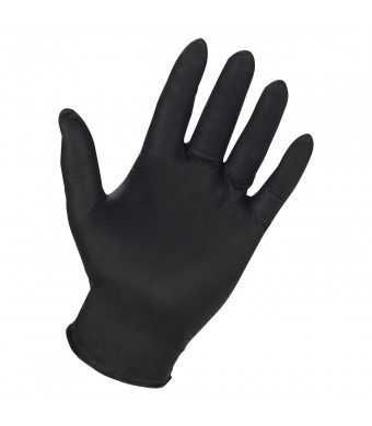 Genuine Joe GJO15376 Titan Nitrile Powder Free Industrial Gloves, Extra Large, Black (Pack of 100)