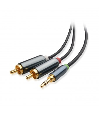 Cable Matters Gold Plated 3.5mm to 2RCA Stereo Audio Cable 3 Feet