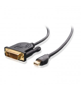 Cable Matters Gold Plated Mini DisplayPort (Thunderbolt™ Port Compatible) to DVI Cable in Black 3 Feet