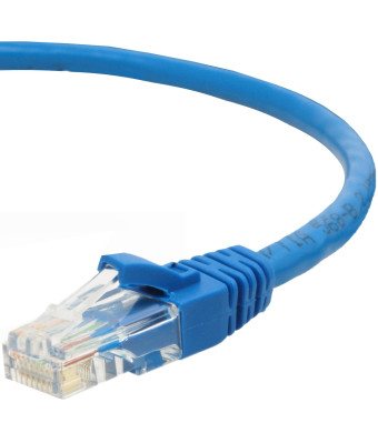 Mediabridge Cat5e Ethernet Patch Cable (15 Feet) - RJ45 Computer Networking Cord - Blue