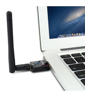 Bolse USB Network adapters, 300Mbps Wifi Wireless-N USB Micro Mini Adapter with High Gain Antenna - Windows XP, Vista, 7, 8; Mac OS X 10.5 Greater; 2