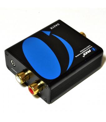 Orei DA21X Premium Optical SPDIF/Coaxial Digital to RCA L/R Analog Audio Converter with 3.5mm Jack Support Headphone/Speaker Outputs