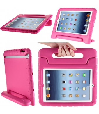 i-Blason Apple iPad Air Case - ArmorBox Kido Series Super Protection Convertible KickStand Cover Case for Kids Friendly (Pink)