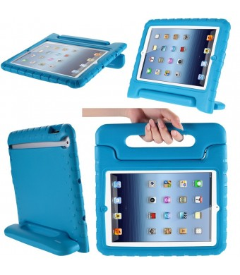 i-Blason Apple iPad Air Case - ArmorBox Kido Series Super Protection Convertible KickStand Cover Case for Kids Friendly (Blue)