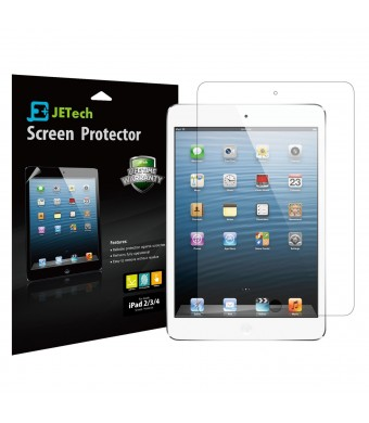 iPad Screen Protector, JETech 2-Pack Screen Protector Film for Apple iPad 2/3/4, Bubble Free Installation, Anti-Fingerprint, Retail Packaging - HD Cl