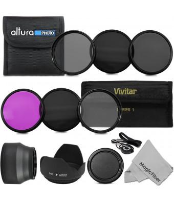 58MM Must Have Lens Filter Accessory Kit for CANON EOS Rebel T5i T4i T3i T3 T2i T1i DSLR Camera - Includes: 58MM Vivitar Filter Kit (UV, CPL, FLD) +