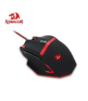 Redragon M801 Mammoth 16400 DPI High Precision Programmable Laser Gaming Mouse for PC, 9 Programmable Buttons, 5 programmable User Profiles, Weight T