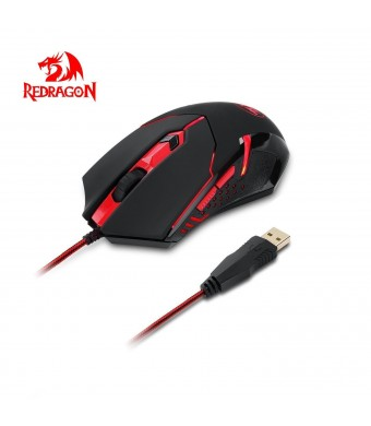 Redragon M601 CENTROPHORUS-2000 DPI Gaming Mouse for PC, 6 Buttons, Weight Tuning Set, Omron Micro Switches