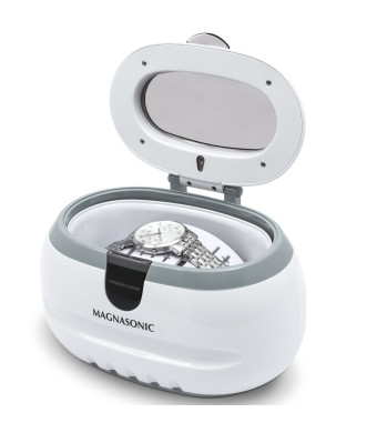 Magnasonic Professional Ultrasonic Polishing Jewelry Cleaner Machine for Cleaning Eyeglasses, Watches, Rings, Necklaces, Coins, Razors, Dentures, Com