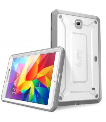 SUPCASE Samsung Galaxy Tab 4 7.0 Case - Unicorn Beetle PRO Series Full-body Hybrid Protective Case with Screen Protector (White/Gray), Dual Layer Des