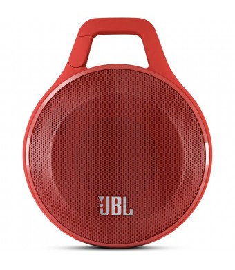 JBL Clip Portable Bluetooth Speaker With Mic (Red)