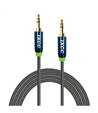 iXCC  10Ft Male to Male 3.5mm Universal Gold Plated Design Tangle-Free [Tangle-Resistant] Slim Thin Auxiliary Audio Stereo Cable Cord for [All 3.5mm-