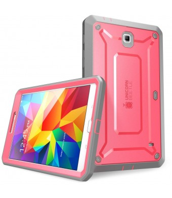 SUPCASE Samsung Galaxy Tab 4 8.0 Case - Unicorn Beetle PRO Series Full-body Hybrid Protective Case with Screen Protector (Pink/Gray), Dual Layer Desi