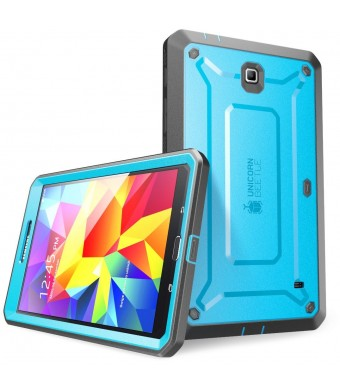 SUPCASE Samsung Galaxy Tab 4 7.0 Case - Unicorn Beetle PRO Series Full-body Hybrid Protective Case with Screen Protector (Blue/Black), Dual Layer Des