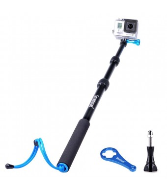 Smatree SmaPole S1 for GoPro Hero 4 All-aluminum Handheld Telescopic Pole / Monopod integrated with a Tripod Adapter (16?to 40? Extension) for GoPro